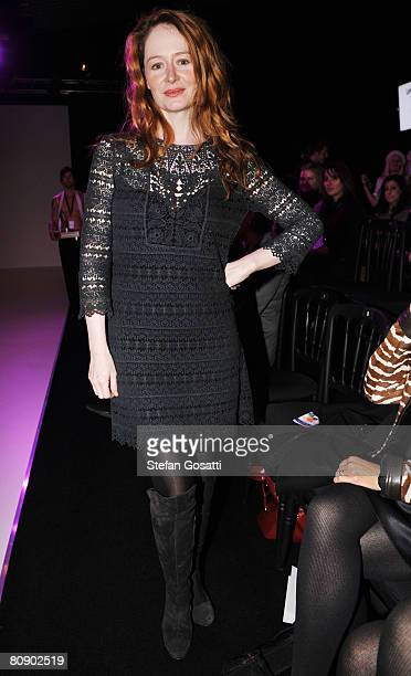 Actress Gracie Otto attends the Lisa Ho catwalk show during the second day of the Rosemount Australian Fashion Week Spring/Summer 2008/09 Collections...