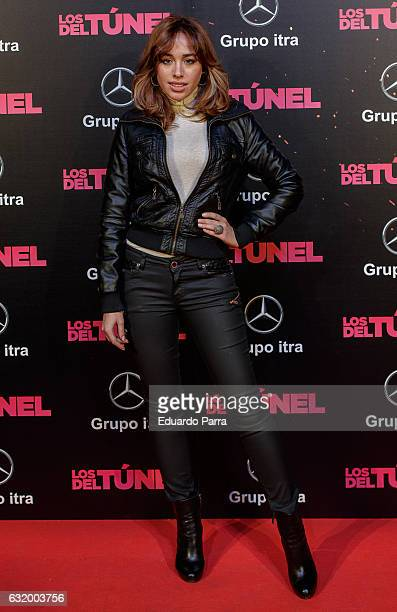 Actress Grecia Castta attends 'Los del Tunel' premiere at Capitol cinema on January 18 2017 in Madrid Spain