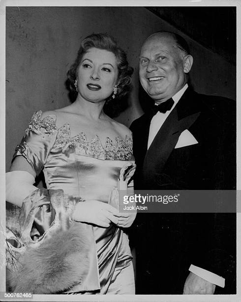 Actress Greer Garson and agent Mike Levee attending the Sadler's Wells Ballet London circa 19401950