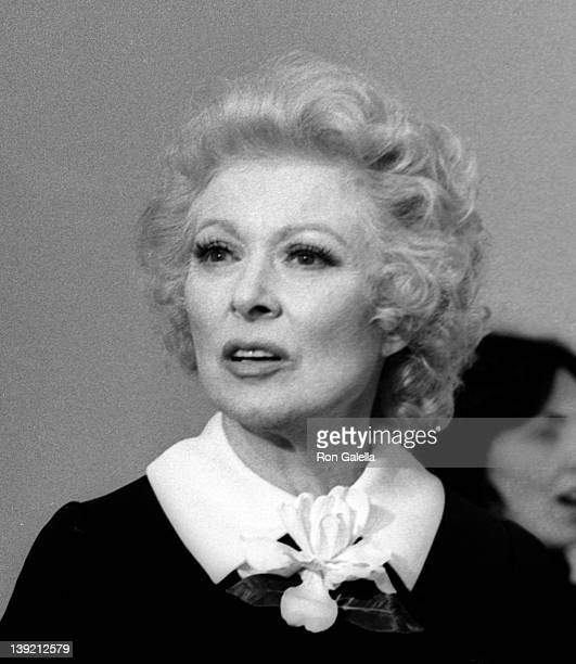 Actress Greer Garson attends 50th Annual Academy Awards on April 3 1978 at the Dorothy Chandler Pavilion in Los Angeles California