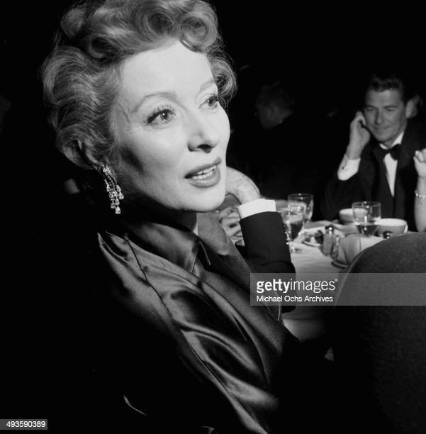 Actress Greer Garson attends a dinner in Los Angeles California