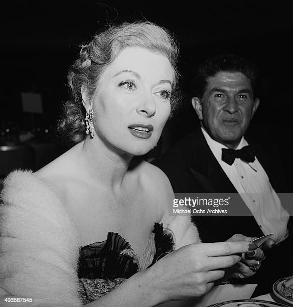 Actress Greer Garson attends the Photoplay award show in Los Angeles California