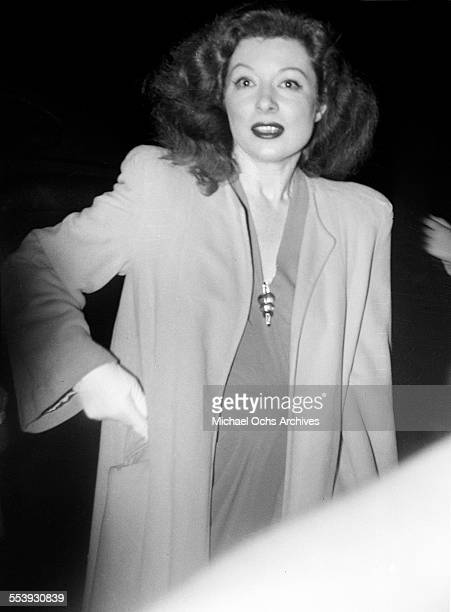 Actress Greer Garson poses in Los Angeles California