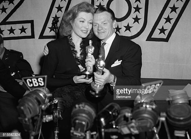 Actress Greer Garson won the Academy Award for Best Actress for her role in Mrs Miniver and actor James Cagney won the Academy Award for Best Actor...