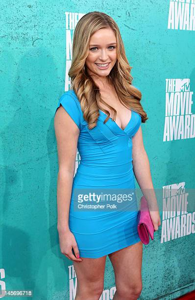 Actress Greer Grammer arrives at the 2012 MTV Movie Awards held at Gibson Amphitheatre on June 3 2012 in Universal City California