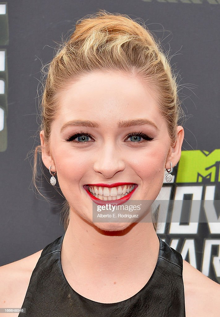Actress Greer Grammer arrives at the 2013 MTV Movie Awards at Sony Pictures Studios on April 14, 2013 in Culver City, California.