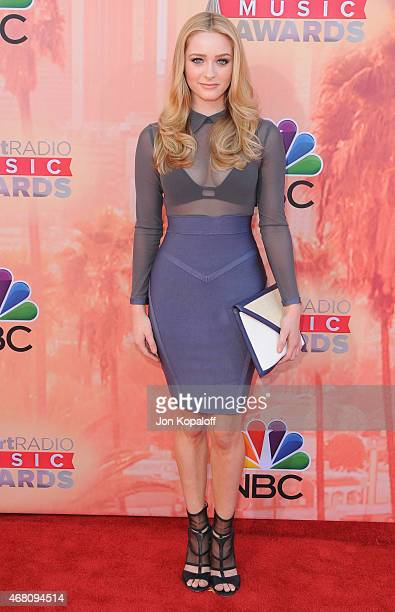 Actress Greer Grammer arrives at the 2015 iHeartRadio Music Awards at The Shrine Auditorium on March 29 2015 in Los Angeles California