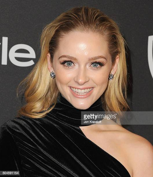 Actress Greer Grammer arrives at the 2016 InStyle And Warner Bros. 73rd Annual Golden Globe Awards Post-Party at The Beverly Hilton Hotel on January...
