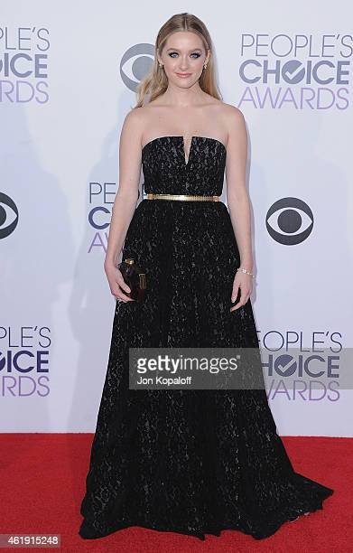 Actress Greer Grammer arrives at The 41st Annual People's Choice Awards at Nokia Theatre LA Live on January 7 2015 in Los Angeles California