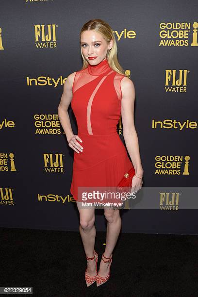 Actress Greer Grammer arrives at the Hollywood Foreign Press Association and InStyle celebrate the 2017 Golden Globe Award Season at Catch LA on...