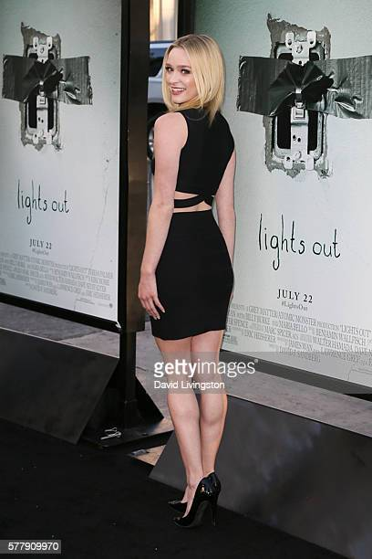 Actress Greer Grammer arrives at the premiere of New Line Cinema's 'Lights Out' at the TCL Chinese Theatre on July 19 2016 in Hollywood California