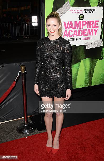 Actress Greer Grammer arrives at The Weinstein Company's premiere of 'Vampire Academy' at Regal 14 at LA Live Downtown on February 4 2014 in Los...
