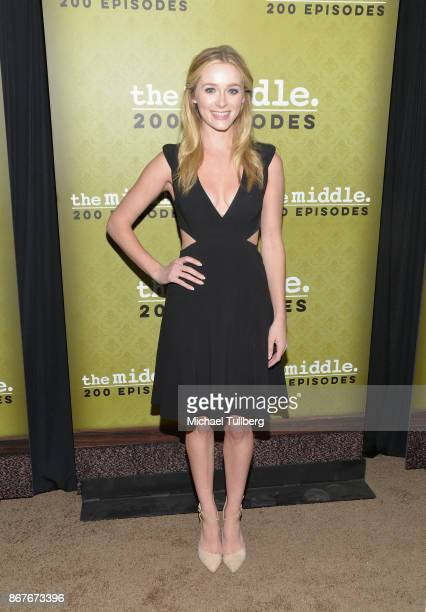 Actress Greer Grammer attends ABC's celebration of the 200th episode of 'The Middle' at Fig Olive on October 28 2017 in West Hollywood California