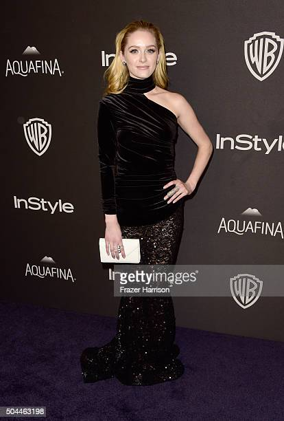 Actress Greer Grammer attends InStyle and Warner Bros 73rd Annual Golden Globe Awards PostParty at The Beverly Hilton Hotel on January 10 2016 in...