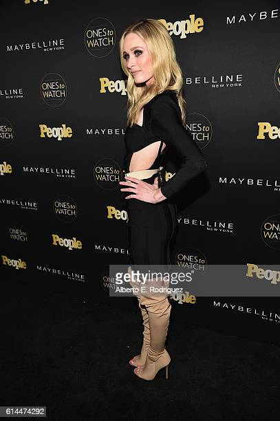 Actress Greer Grammer attends People's 'Ones to Watch' event presented by Maybelline New York at EP LP on October 13 2016 in Hollywood California