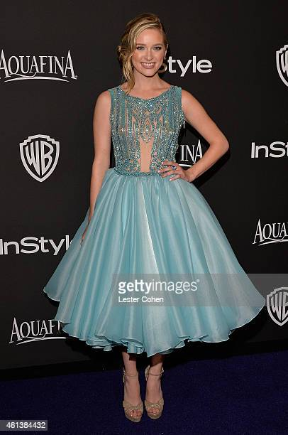 Actress Greer Grammer attends the 16th Annual Warner Bros and InStyle PostGolden Globe Party at The Beverly Hilton Hotel on January 11 2015 in...