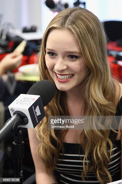 Actress Greer Grammer attends the 2014 American Music Awards Radio Row at Nokia Theatre L.A. Live on November 21, 2014 in Los Angeles, California.