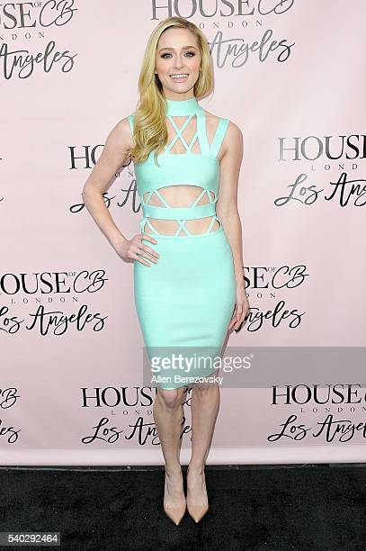 Actress Greer Grammer attends the House of CB Flagship Store Launch party at the House of CB on June 14, 2016 in West Hollywood, California.