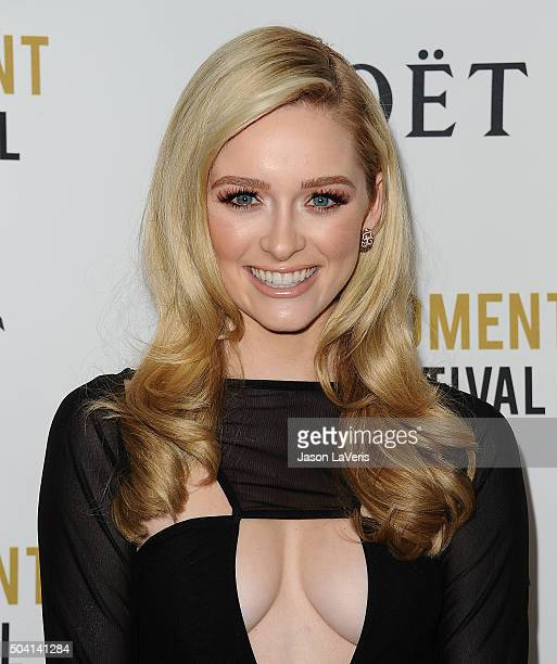 Actress Greer Grammer attends the Moet and Chandon celebration of The Golden Globes on January 8 2016 in West Hollywood California