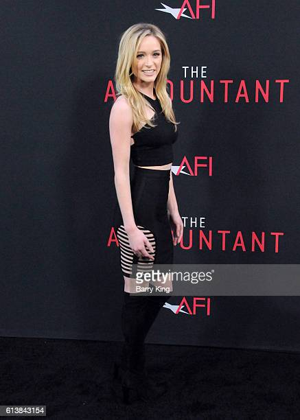 Actress Greer Grammer attends the premiere of Warner Bros Pictures' 'The Accountant' at TCL Chinese Theatre on October 10 2016 in Hollywood California