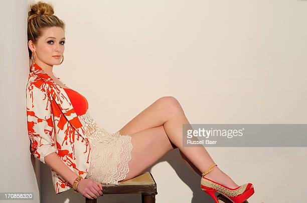 Actress Greer Grammer is photographed for Beauty Entertainment on April 14 2013 in Santa Monica California PUBLISHED IMAGE
