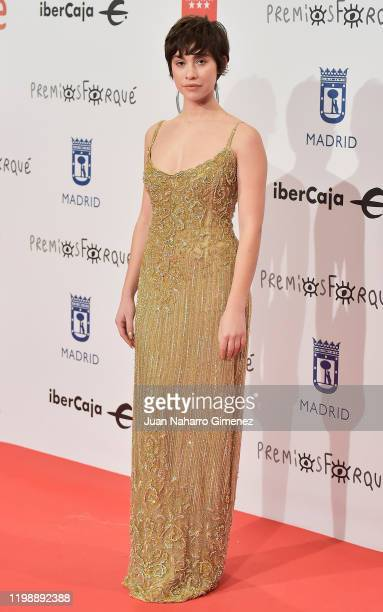 Actress Greta Fernández attends the red carpet during 'Jose Maria Forque Awards' 2020 at Ifema on January 11 2020 in Madrid Spain