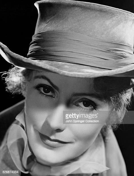 Actress Greta Garbo in Hat