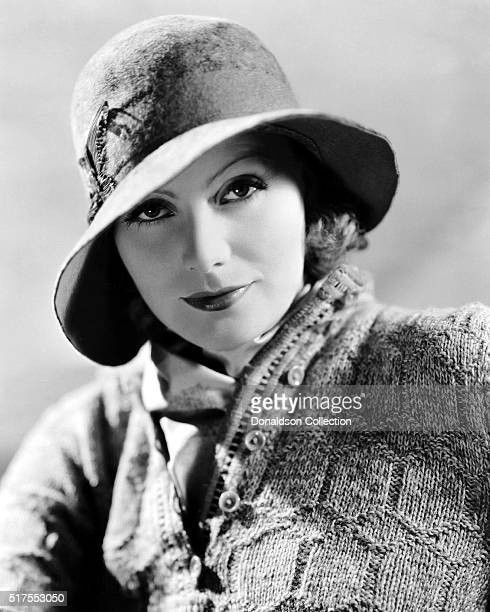 Actress Greta Garbo poses for a publicity photo for the MGM movie A Woman Of Affairs which was released in 1928