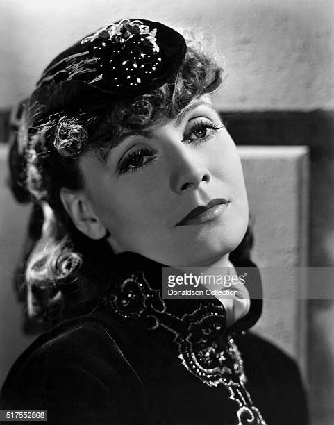 Actress Greta Garbo poses for a publicity photo for the MGM movie Anna Karenina which was released in 1935