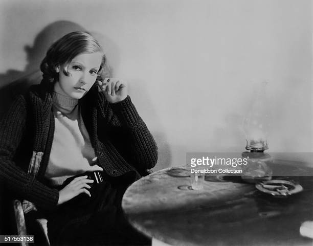 Actress Greta Garbo poses for a publicity photo for the MGM movie Anna Christie which was released in 1930