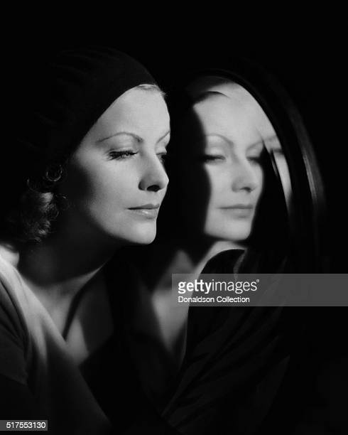 Actress Greta Garbo poses for a publicity photo for the MGM movie The Kiss which was released in 1929