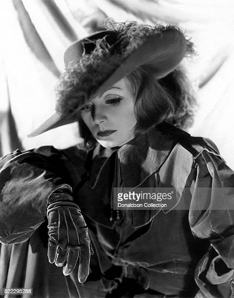 Actress Greta Garbo poses for a publicity still for the MGM film 'Queen Christina' in 1933 in Los Angeles California