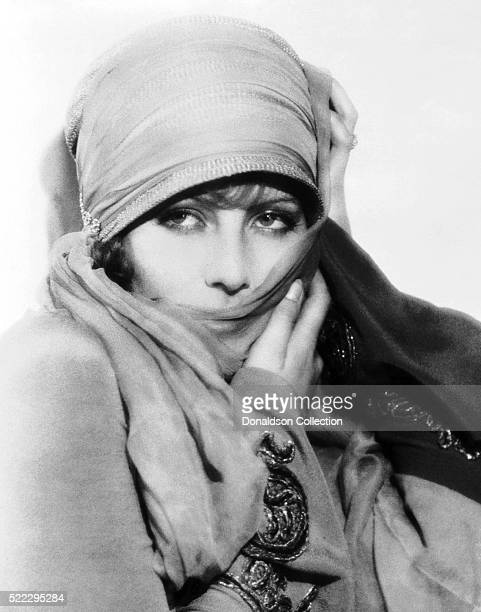 Actress Greta Garbo poses for a publicity still for the MGM film 'The Temptress' in 1926 in Los Angeles California