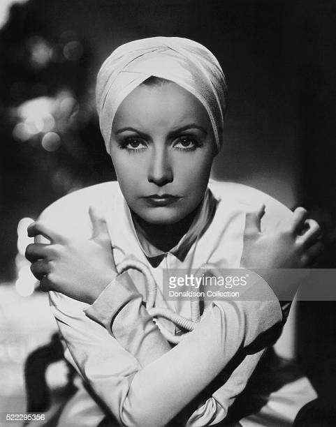Actress Greta Garbo poses for a publicity still for the MGM film 'The Painted Veil' in 1934 in Los Angeles California