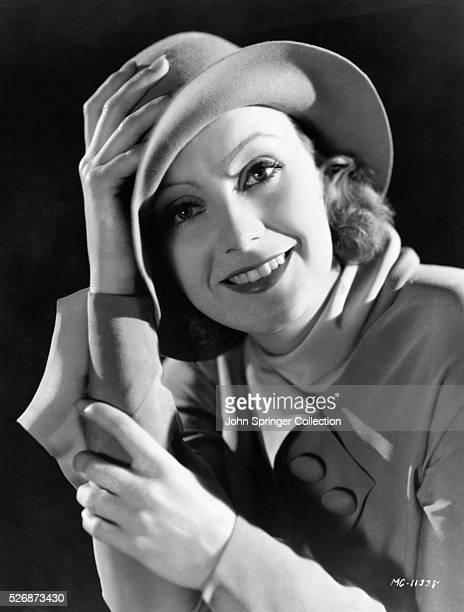 Actress Greta Garbo Smiling