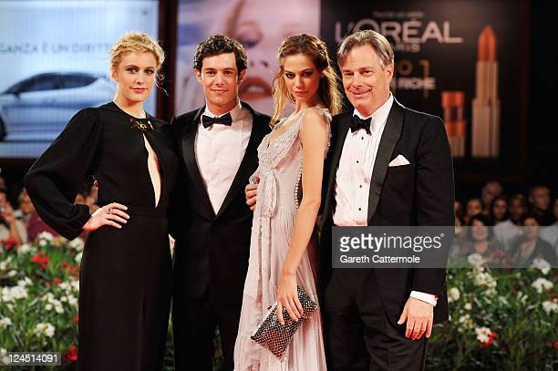 Actress Greta Gerwig actor Adam Brody actress Analeigh Tipton and director Whit Stillman attend the Damsels In Distress premiere and closing ceremony...