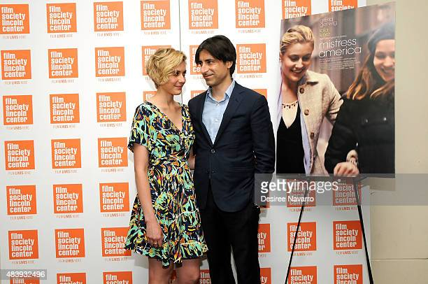 Actress Greta Gerwig and director Noah Baumbach attend 2015 Film Society of Lincoln Center Summer Talks with 'Mistress America' at Elinor Bunin...