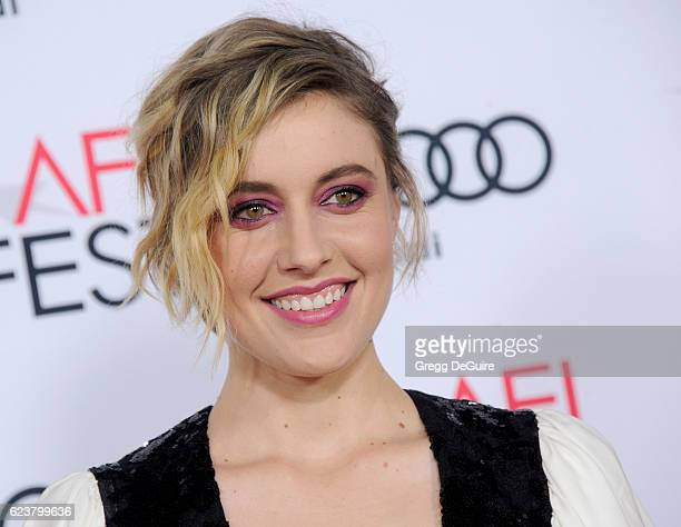 Actress Greta Gerwig arrives at the AFI FEST 2016 Presented By Audi A Tribute To Annette Bening And Gala Screening Of A24's 20th Century Women at TCL...