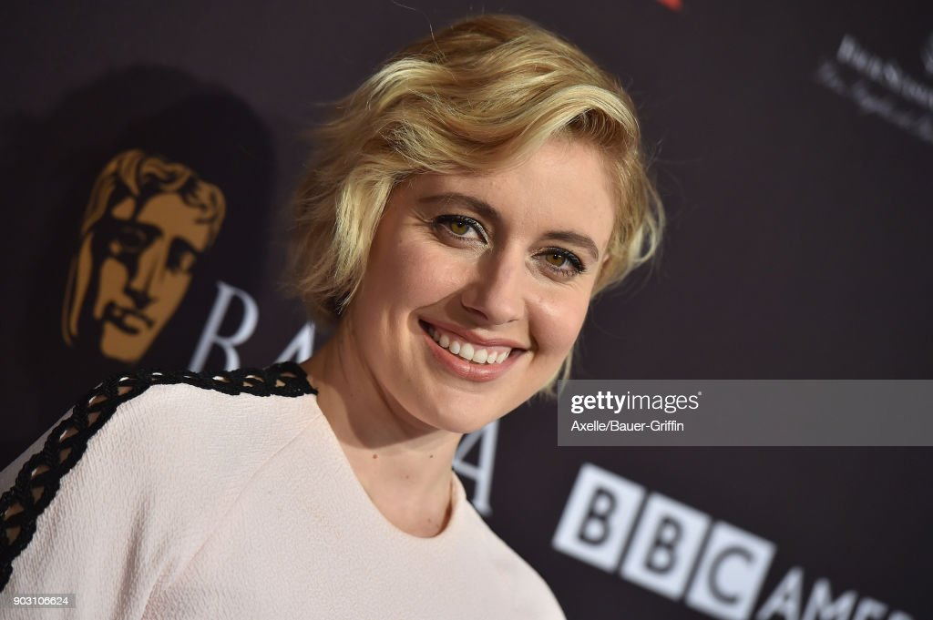 Actress Greta Gerwig arrives at The BAFTA Los Angeles Tea Party at Four Seasons Hotel Los Angeles at Beverly Hills on January 6, 2018 in Los Angeles, California.