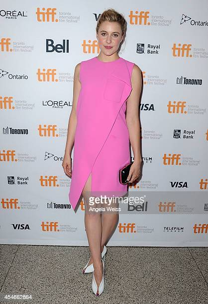 Actress Greta Gerwig arrives at The Humbling Premiere during the 2014 Toronto International Film Festival at The Elgin on September 4 2014 in Toronto...