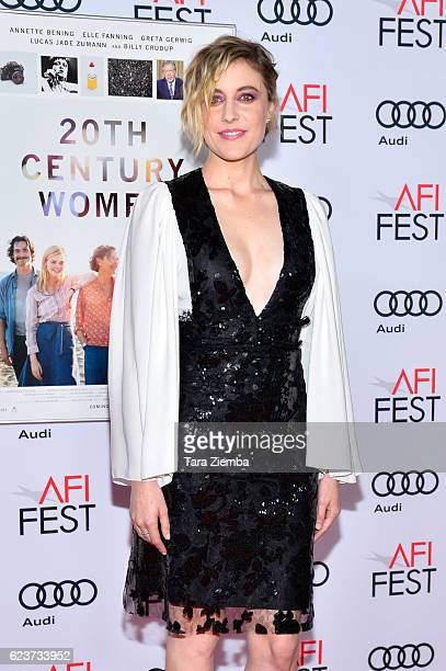Actress Greta Gerwig attends a tribute to Annette Bening and gala screening of A24's 20th Century Women at AFI Fest 2016 presented by Audi at The...