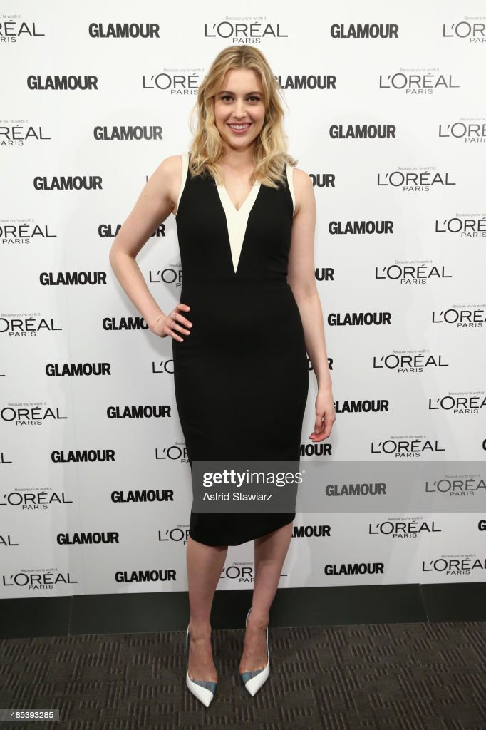 Actress Greta Gerwig attends Glamour And L'Oreal Paris 2014 Top Ten College Women Celebration at Kaufman Music Center on April 17, 2014 in New York City.