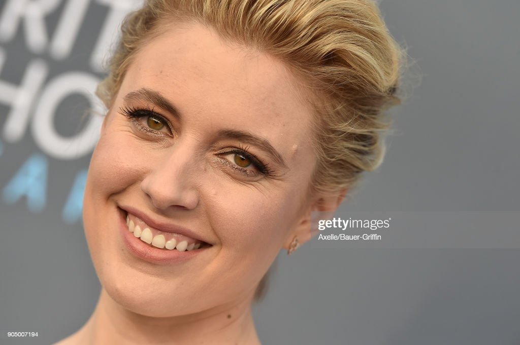 Actress Greta Gerwig attends the 23rd Annual Critics' Choice Awards at Barker Hangar on January 11, 2018 in Santa Monica, California.