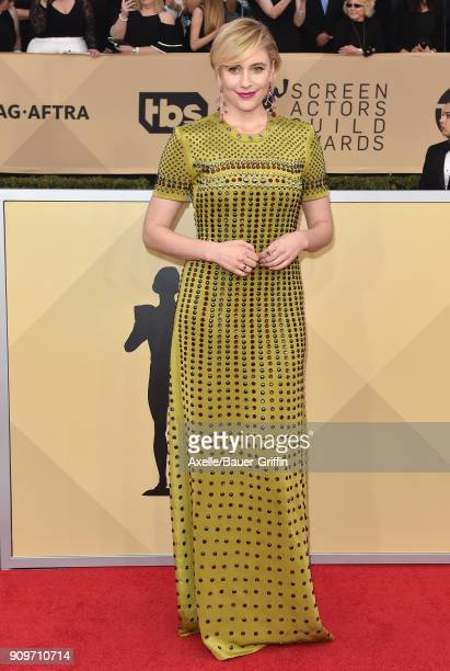 Actress Greta Gerwig attends the 24th Annual Screen Actors Guild Awards at The Shrine Auditorium on January 21 2018 in Los Angeles California