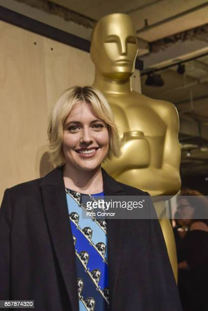 Actress Greta Gerwig attends 'The Academy of Motion Picture Arts Sciences Hosts the 2017 New Members Party' at NeueHouse Madison Square on October 2...