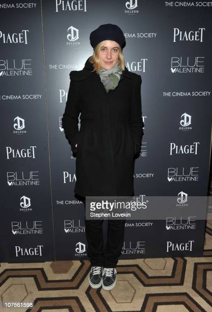 Actress Greta Gerwig attends the Cinema Society Piaget screening of 'Blue Valentine' at theTribeca Grand Hotel on December 13 2010 in New York City