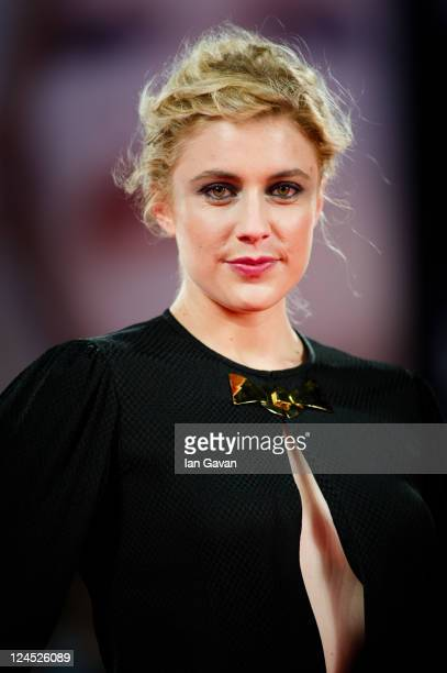 Actress Greta Gerwig attends the Damsels In Distress premiere and closing ceremony during the 68th Venice Film Festival at Palazzo del Cinema on...