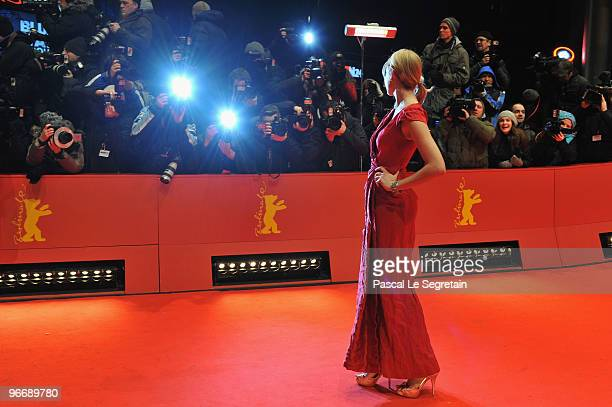 Actress Greta Gerwig attends the 'Greenberg' Premiere during day four of the 60th Berlin International Film Festival at the Berlinale Palast on...