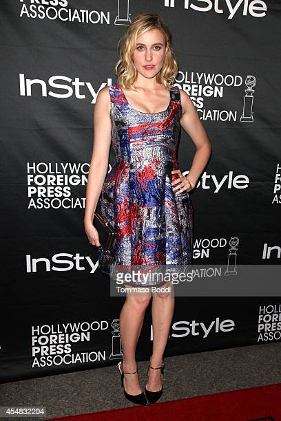 Actress Greta Gerwig attends the HFPA InStyle's 2014 TIFF celebration at the 2014 Toronto International Film Festival at Windsor Arms Hotel on...
