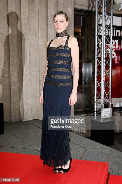Actress Greta Gerwig attends the 'Maggie's Plan' premiere during the 66th Berlinale International Film Festival Berlin at FriedrichstadtPalast on...